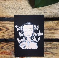 Say no to macho bullshit – Postkarte