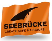 Seebrücke - Create safe harbours! – Fahne