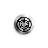 Heart Gears (Silber) Button