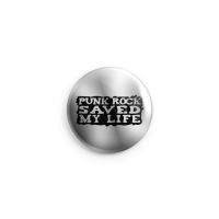 Punkrock Saved my Life (Silber) – Button