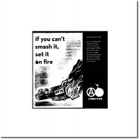 If you can't smash it, set it on fire – Linoldruck