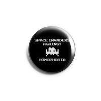 Space Invaders against Homophobia – Button