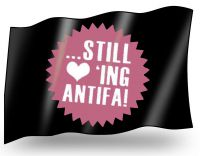 Still loving Antifa – Fahne