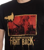 Fight Back! Linke Freiräume verteidigen! – T-Shirt (Mob Action)