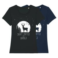 Shoot Photos not Animals – tailliertes Shirt