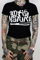 Antifa by Nature – T-Shirt (waisted fit)