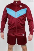 True Rebel Tracksuit Kombi (Jacke und Shorts) – Burgundy Blue