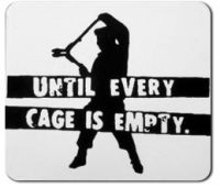 Until Every Cage is Empty PVC-Aufkleber