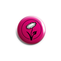 Vegan Blume (pink) – Button