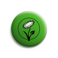 Vegan Blume (grün) – Button – Gross