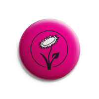 Vegan Blume (pink) – Button – Gross
