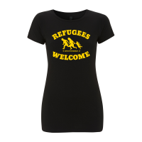 Refugees Welcome – tailliertes Shirt