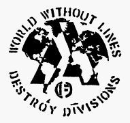 World without Lines - Destroy Divisions Aufnäher