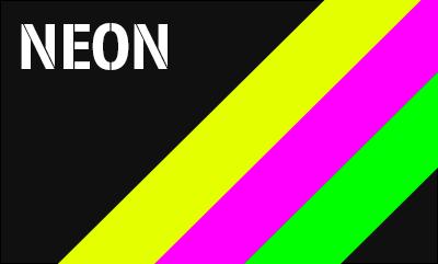 Neon Aufkleber