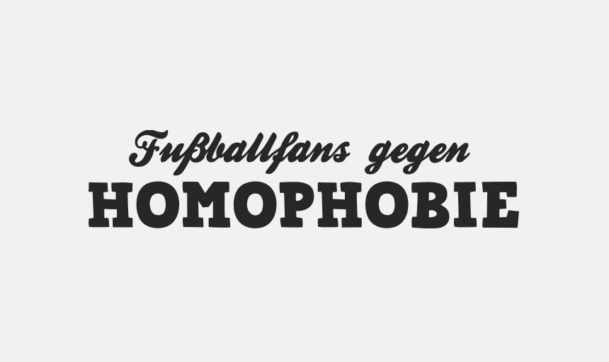 Fussballfans gegen Homophobie