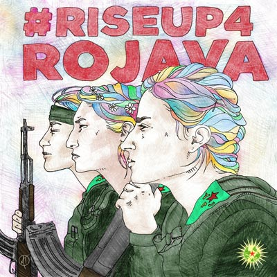 free Poster, fight for Rojava