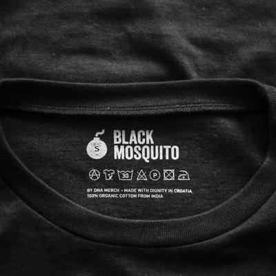 T-Shirt aus solidarischem Handel, BM Imprint Detail