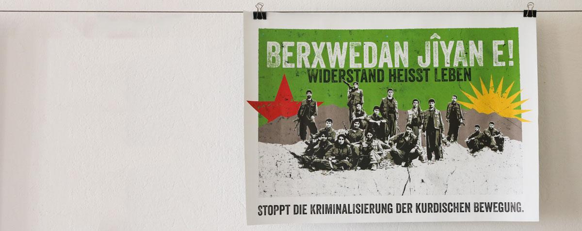 Widerstand heißt leben Plakat